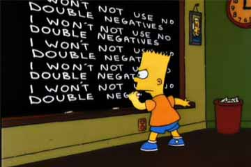 Grammar tips - double negatives