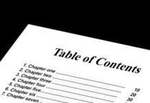 How To Make The Table Of Contents In A Word Document